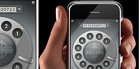Rotary Dialer - iPhone app - UI design