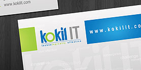 Kokil IT business card design