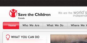 Save the Children Canada - web design