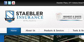 Staebler Insurance - web design